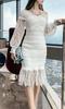 性感显瘦长裙蕾丝连衣裙