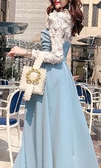 时尚荷叶边连衣裙